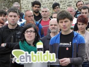 EH Bilduko eledunak, koalizioaren postura azaltzen./Aimar Maiz