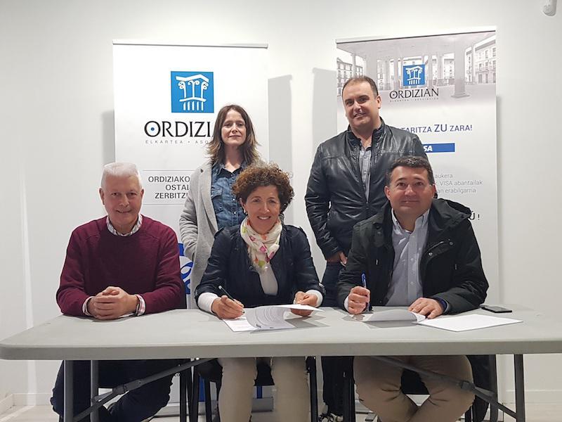 Ordizia merkataritza hitzarmen sinadura 2018