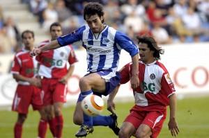 Partido de la Liga de f?tbol en Primera DivisiÛn disputado en Mendizorrotza entre el AlavÈs y el Getafe, dirigido por el ·rbitro asturiano MuÒiz Fern·ndez y que ha terminado con el resultado de 3-4 (NenÈ -3, uno de penalti- y Gavil·n, Riki -2- y PernÌa). En la imagen, Sarriegi.